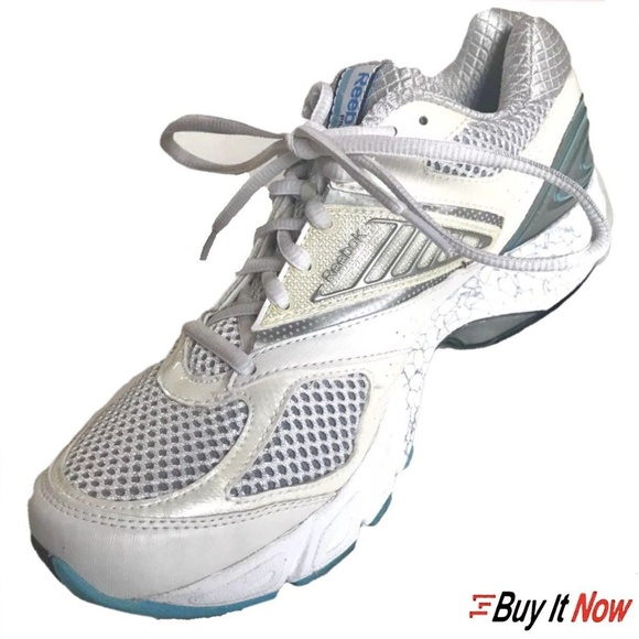Reebox Size 10 Trinity 5 Kinetic Fit White Shoes